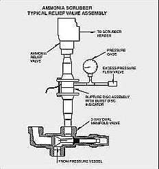 This relief valve assembly shows one (1) Rv for simplicity.